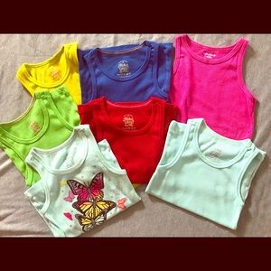 7 girls tank tops, all size XS (4/5)